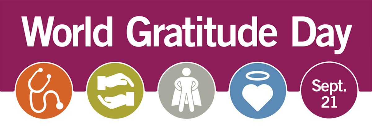 World Gratitude Day 2019 banner
