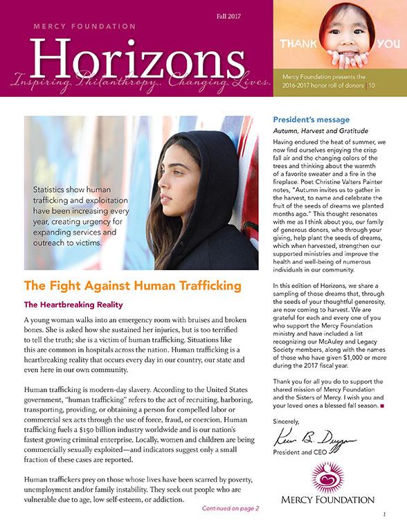 Horizons Newsletter Fall 2017