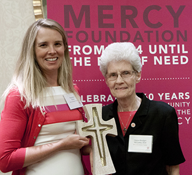 Roxanne Elliott and Sister Bridget McCarthy