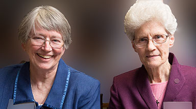 Sisters Kathleen Doyle and Bridget McCarthy